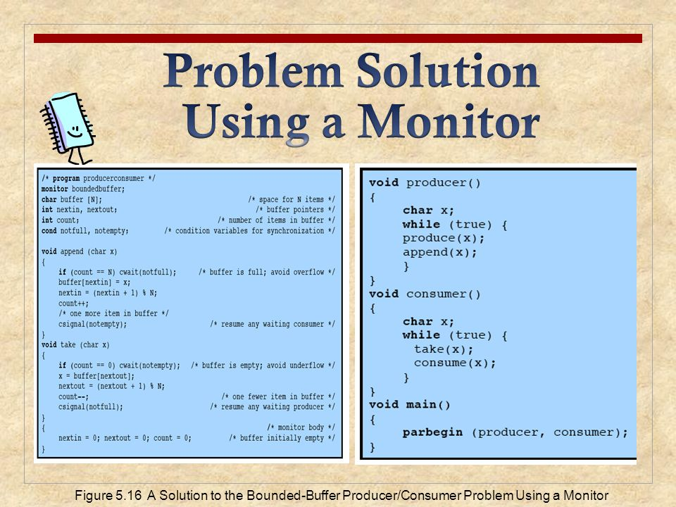 Problem Solution Using a Monitor
