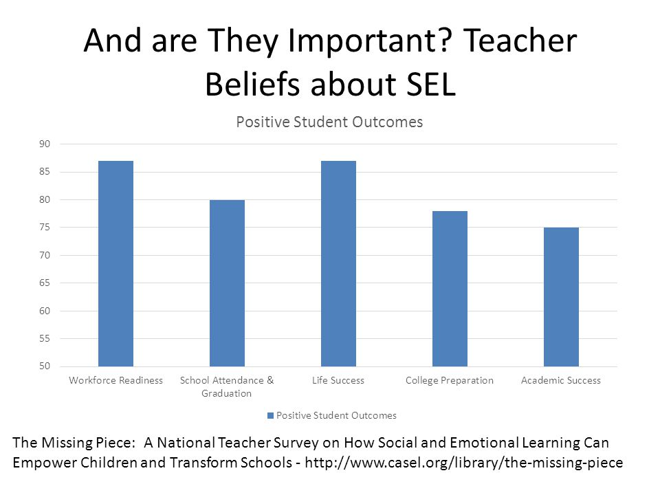 And are They Important Teacher Beliefs about SEL