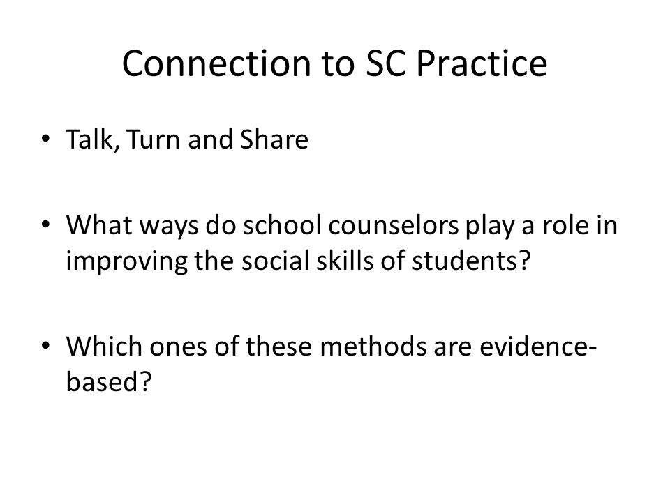 Connection to SC Practice