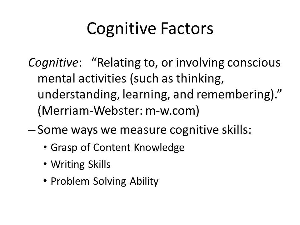 Cognitive Factors