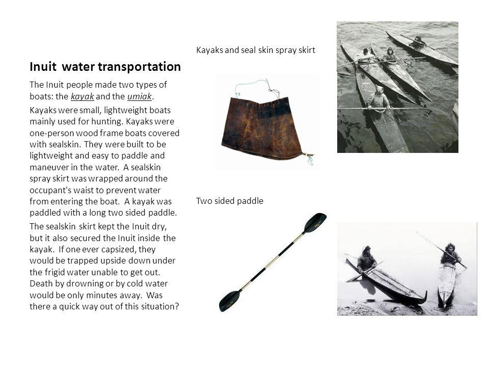 Inuit water transportation
