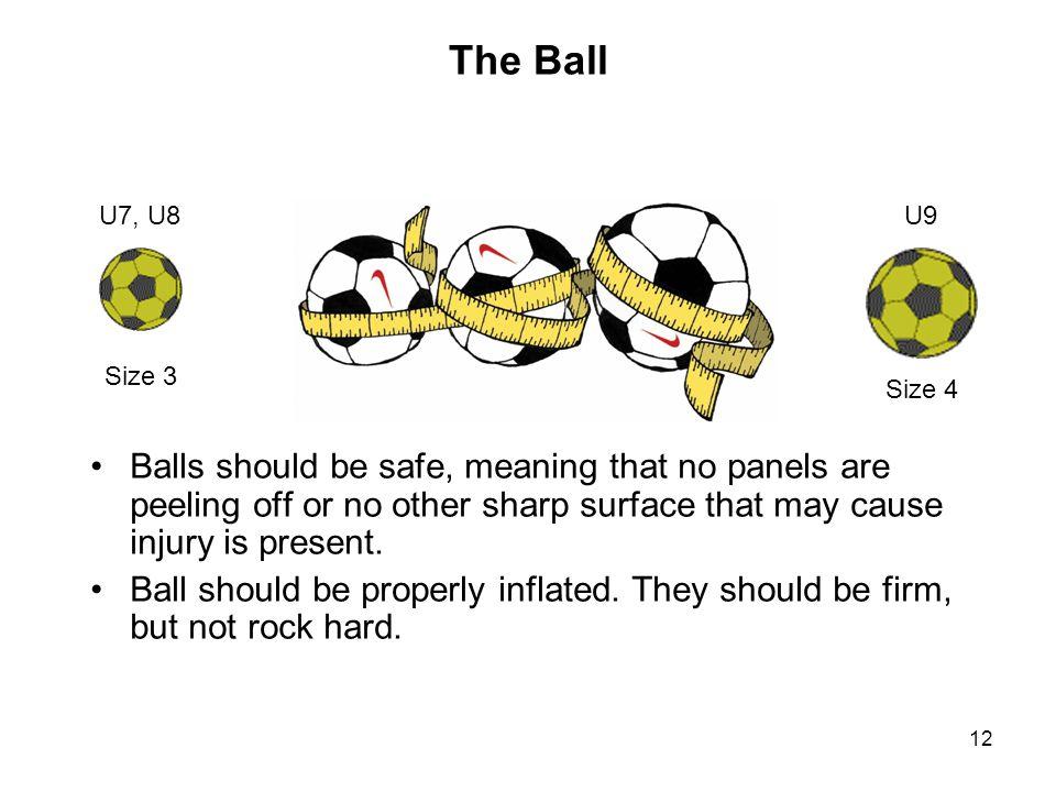 The Ball U7, U8. U9. Size 3. Size 4.