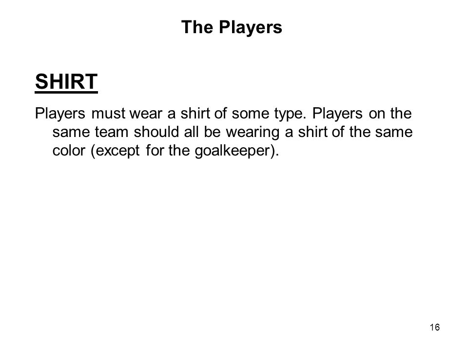 The Players SHIRT.