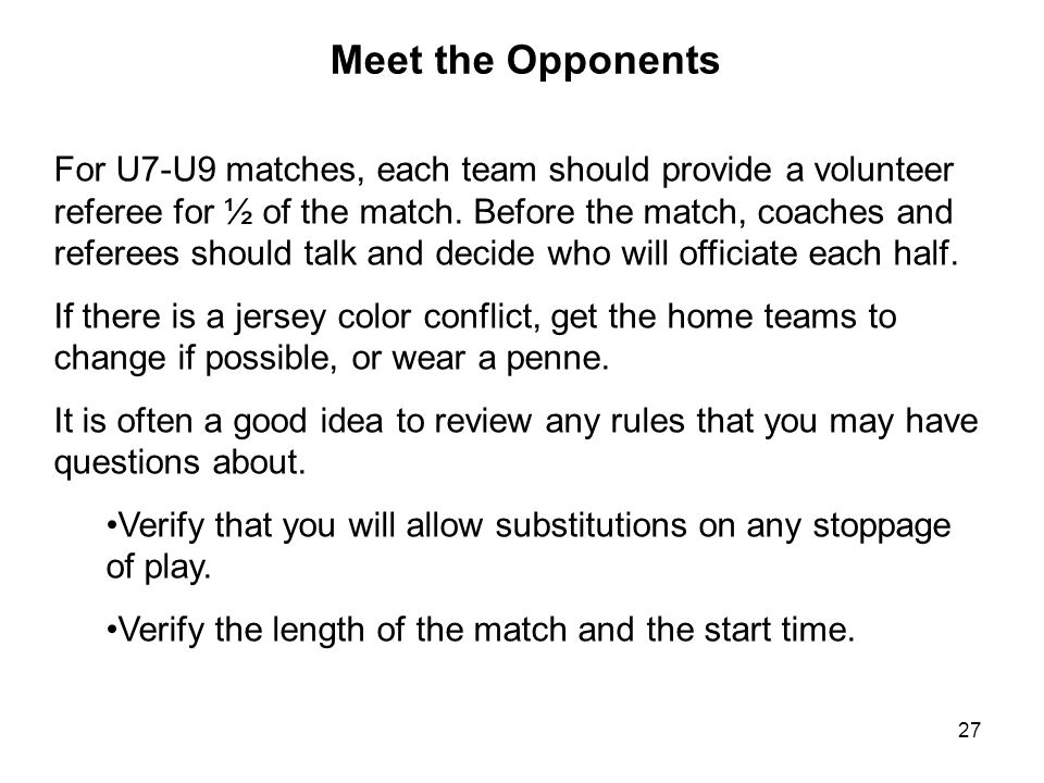 Meet the Opponents