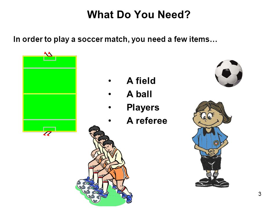 What Do You Need A field A ball Players A referee