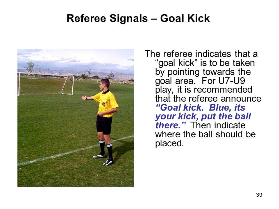 Referee Signals – Goal Kick
