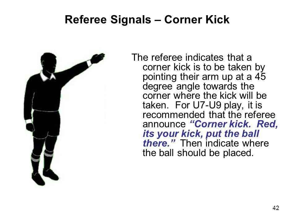 Referee Signals – Corner Kick