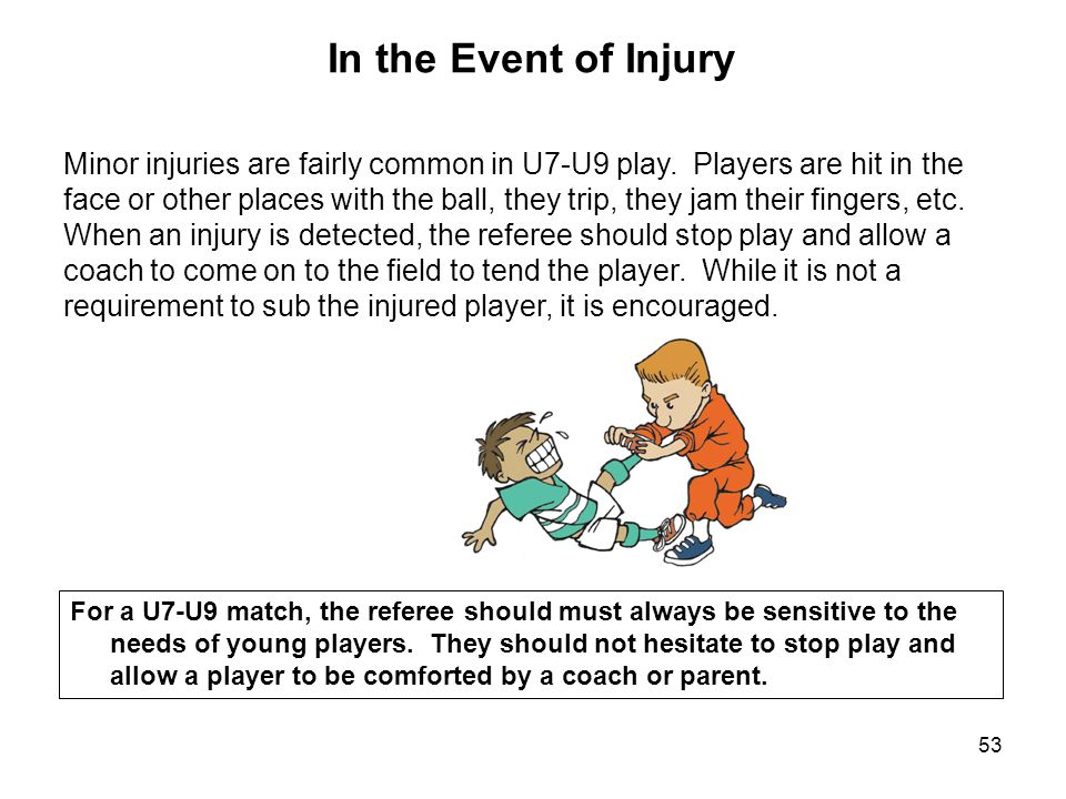 In the Event of Injury