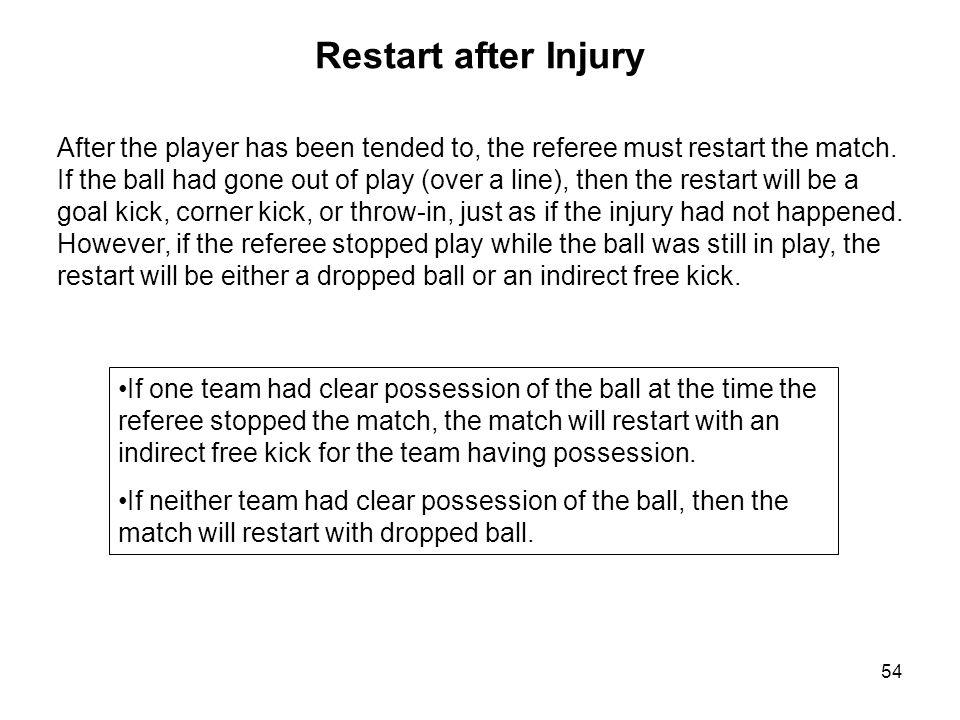 Restart after Injury