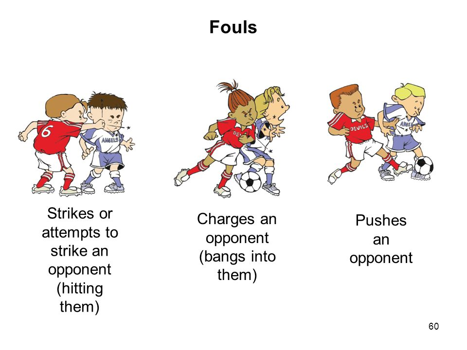 Fouls Strikes or attempts to strike an opponent (hitting them)