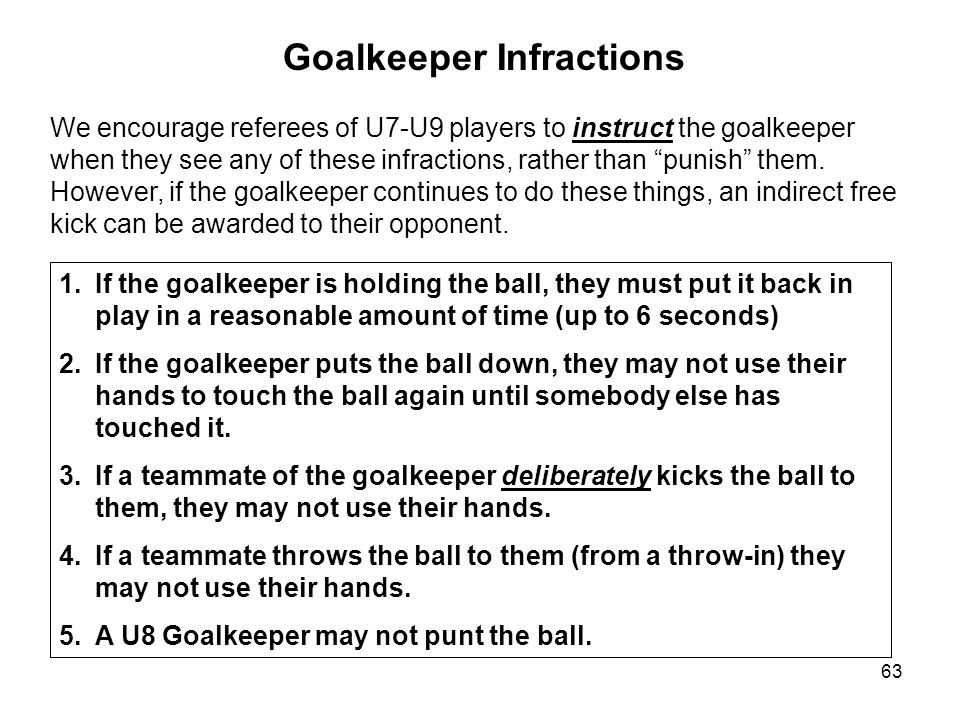 Goalkeeper Infractions