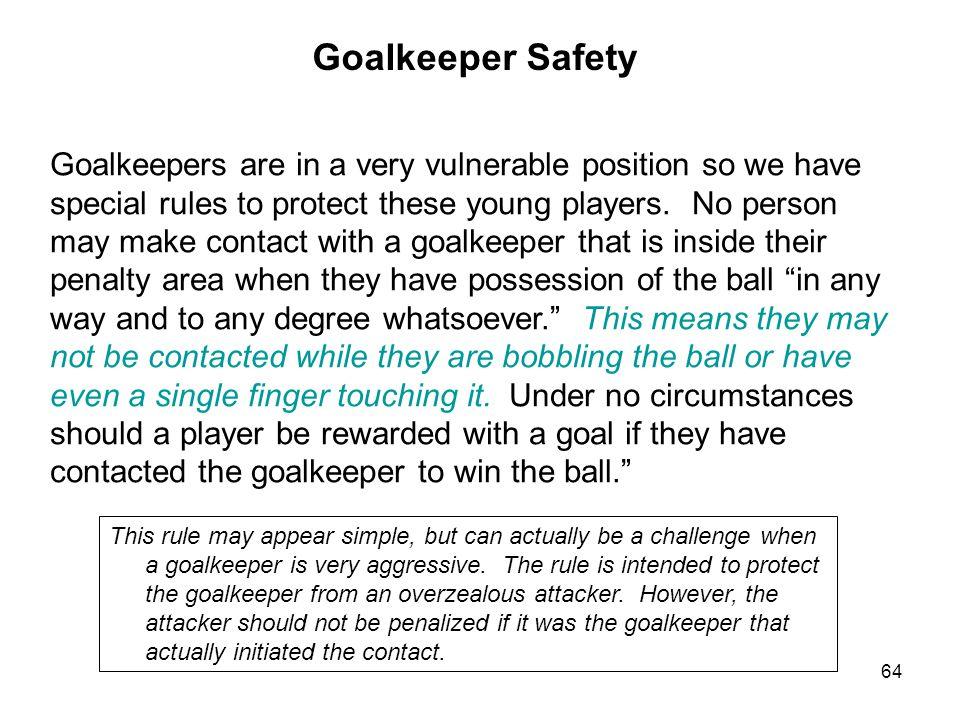 Goalkeeper Safety