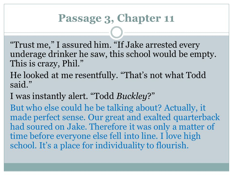 Passage 3, Chapter 11