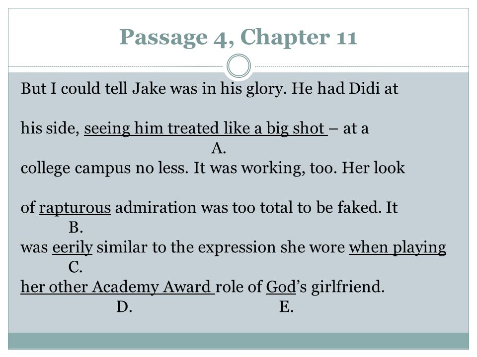Passage 4, Chapter 11