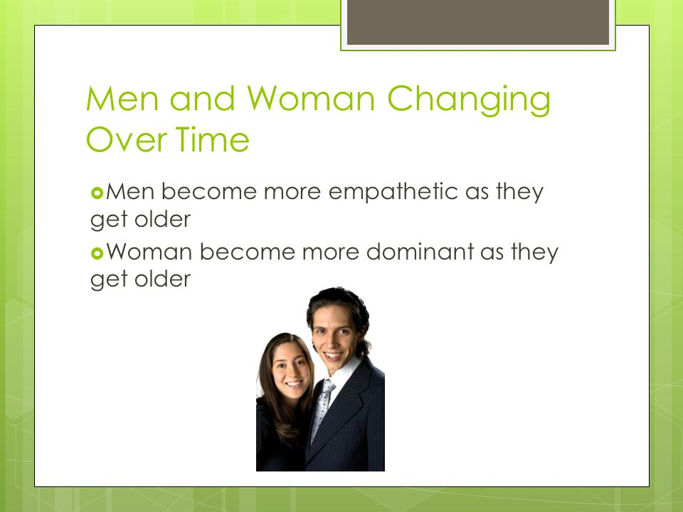 Men and Woman Changing Over Time
