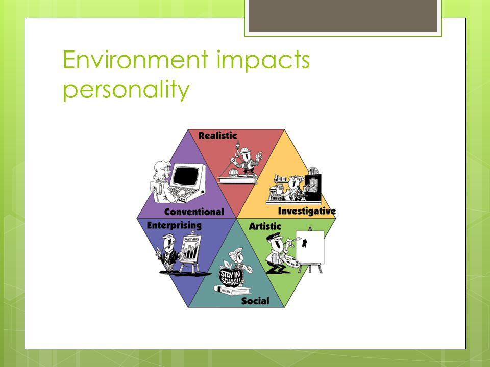 Environment impacts personality