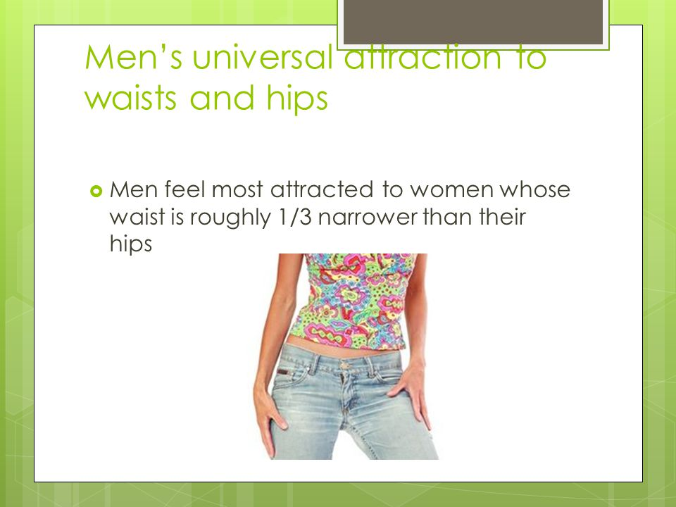 Men's universal attraction to waists and hips