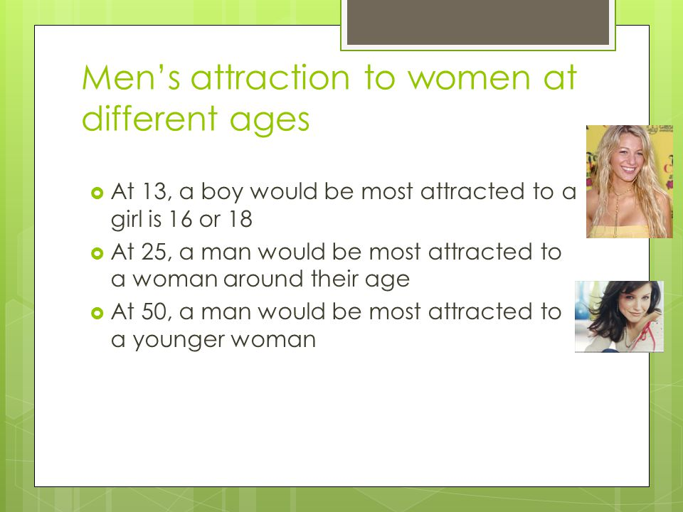 Men's attraction to women at different ages