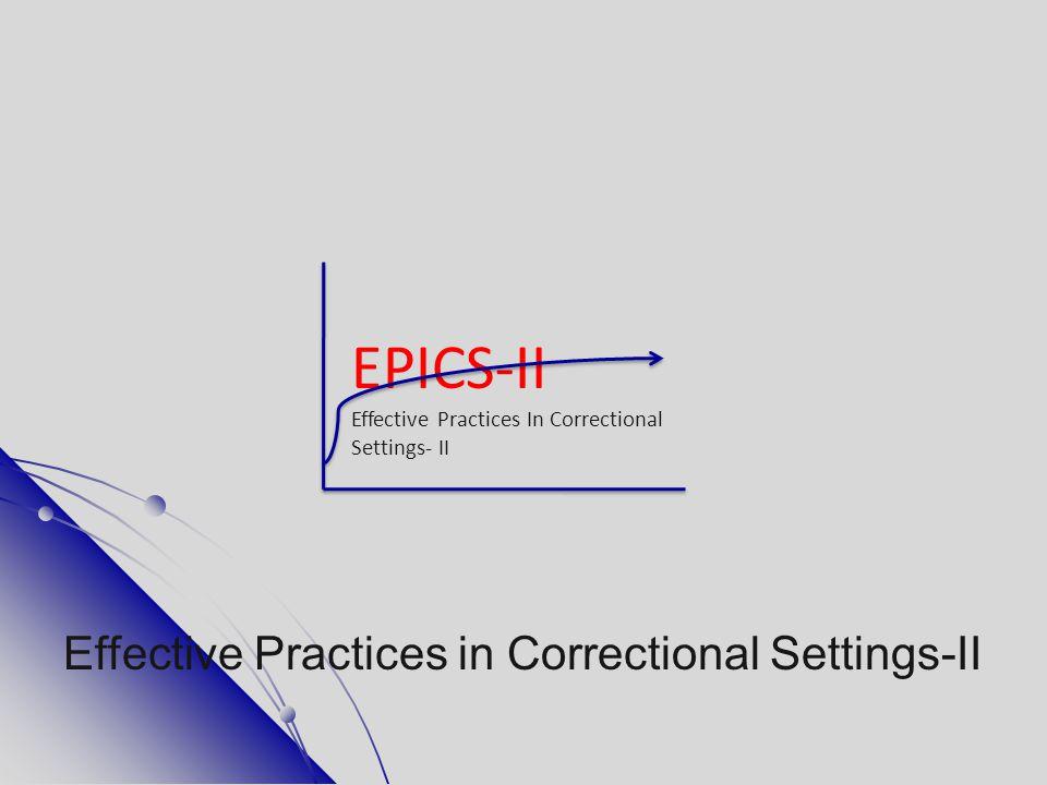 EPICS-II Effective Practices in Correctional Settings-II
