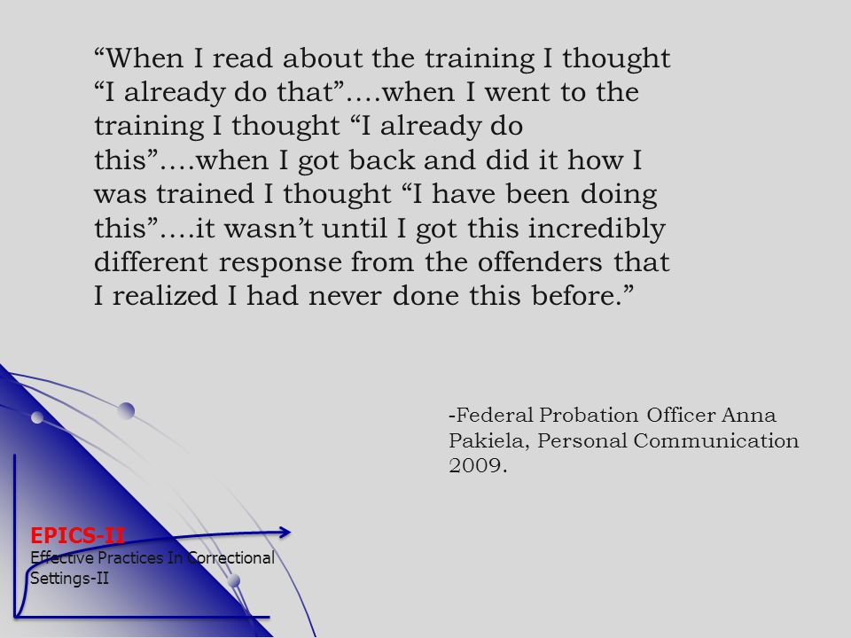When I read about the training I thought I already do that …