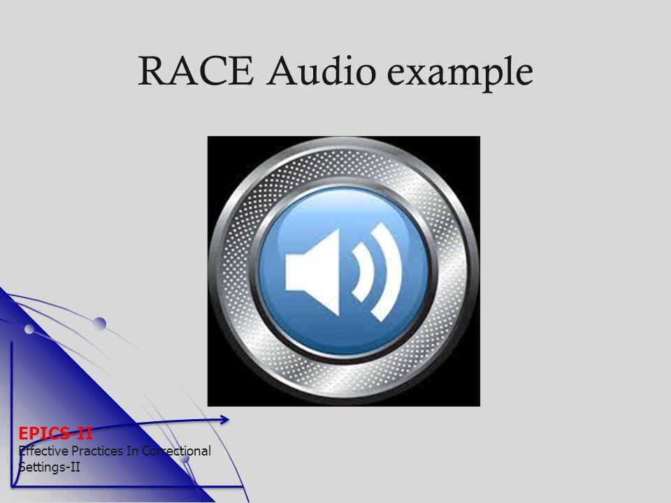 RACE Audio example EPICS-II