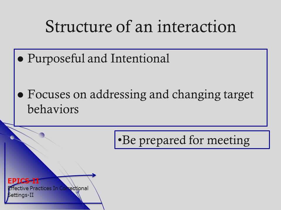 Structure of an interaction