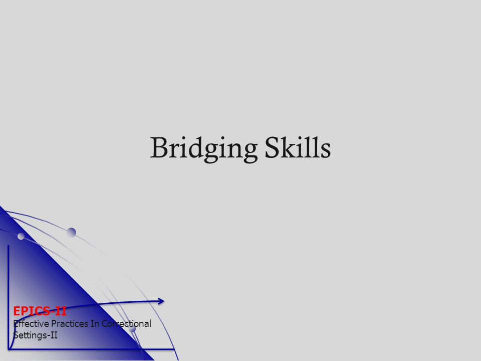 Bridging Skills EPICS-II