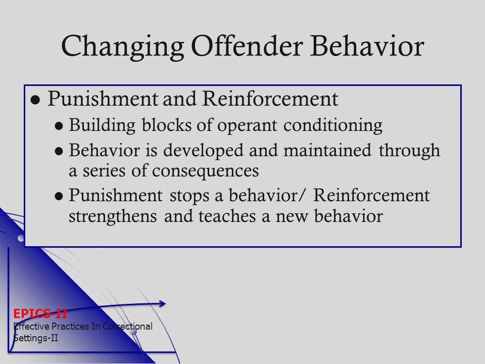 Changing Offender Behavior