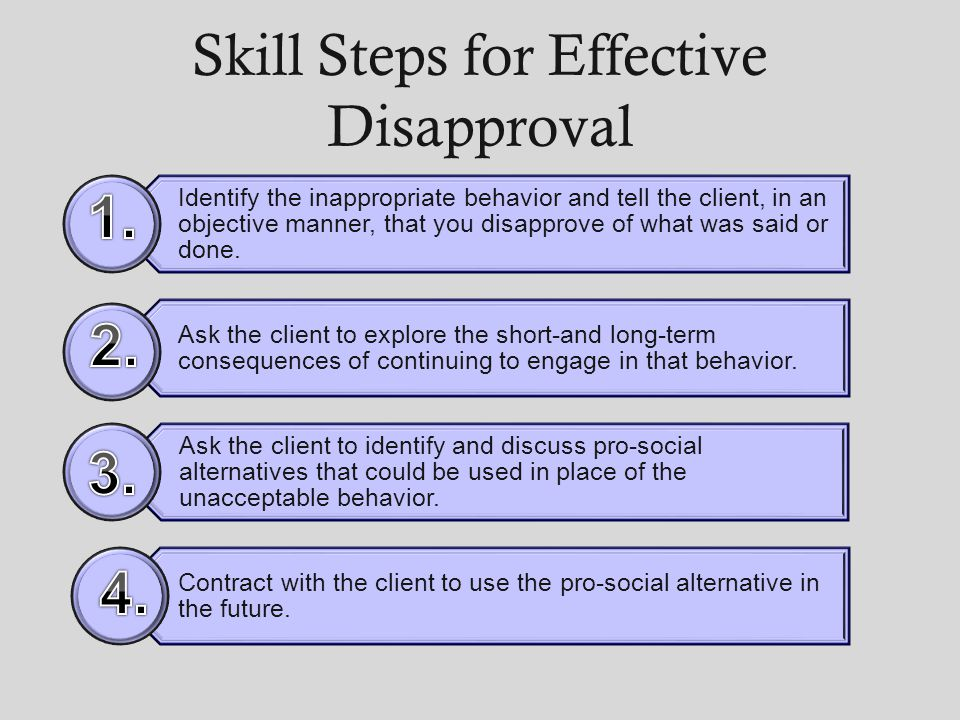 Skill Steps for Effective Disapproval