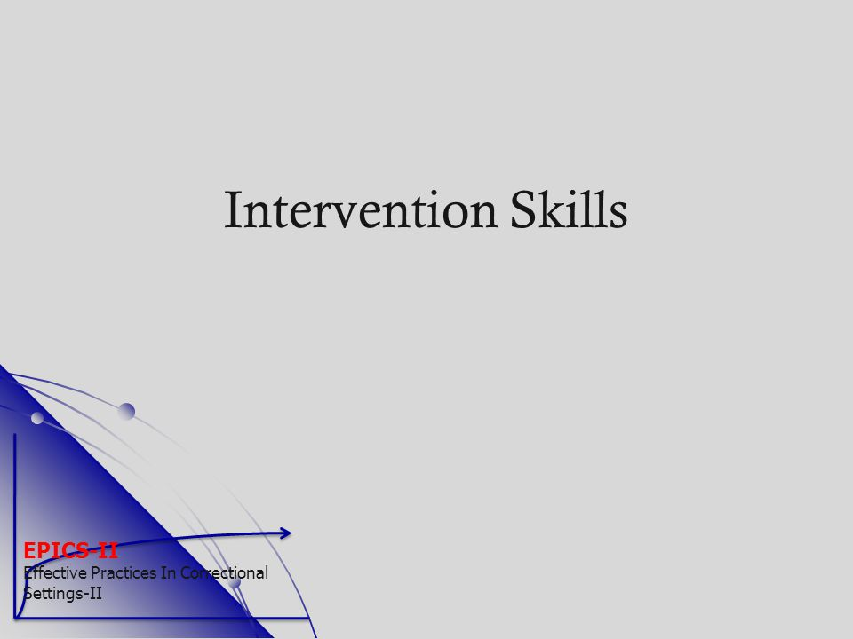 Intervention Skills EPICS-II