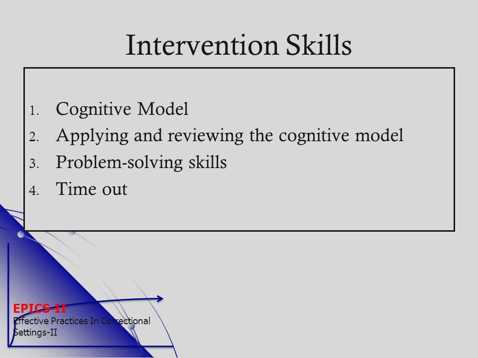 Intervention Skills Cognitive Model