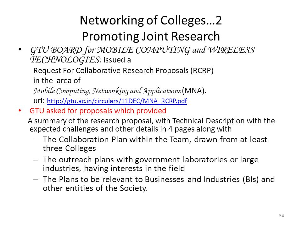 Networking of Colleges…2 Promoting Joint Research