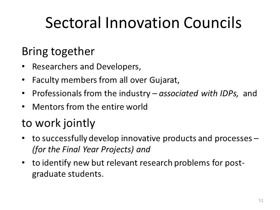Sectoral Innovation Councils