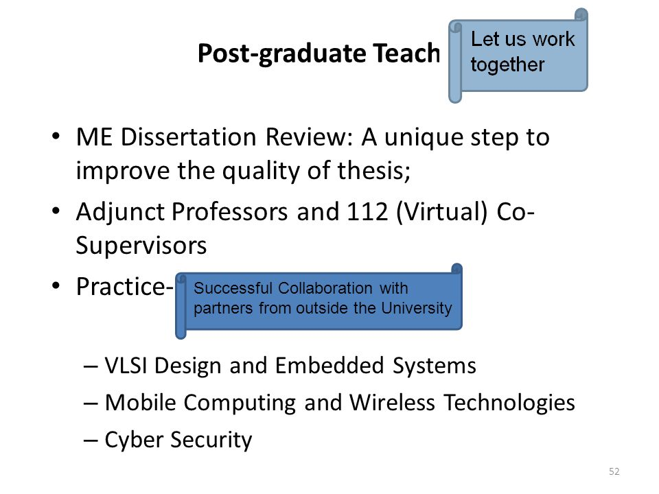 Post-graduate Teaching