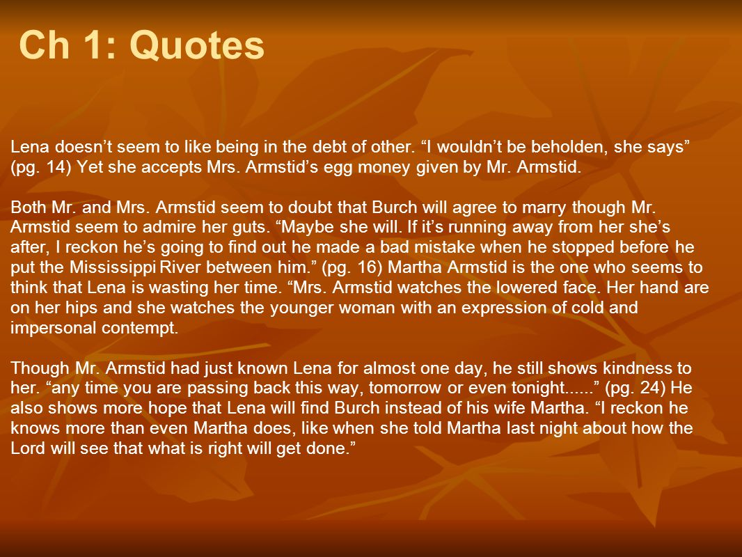 Ch 1: Quotes