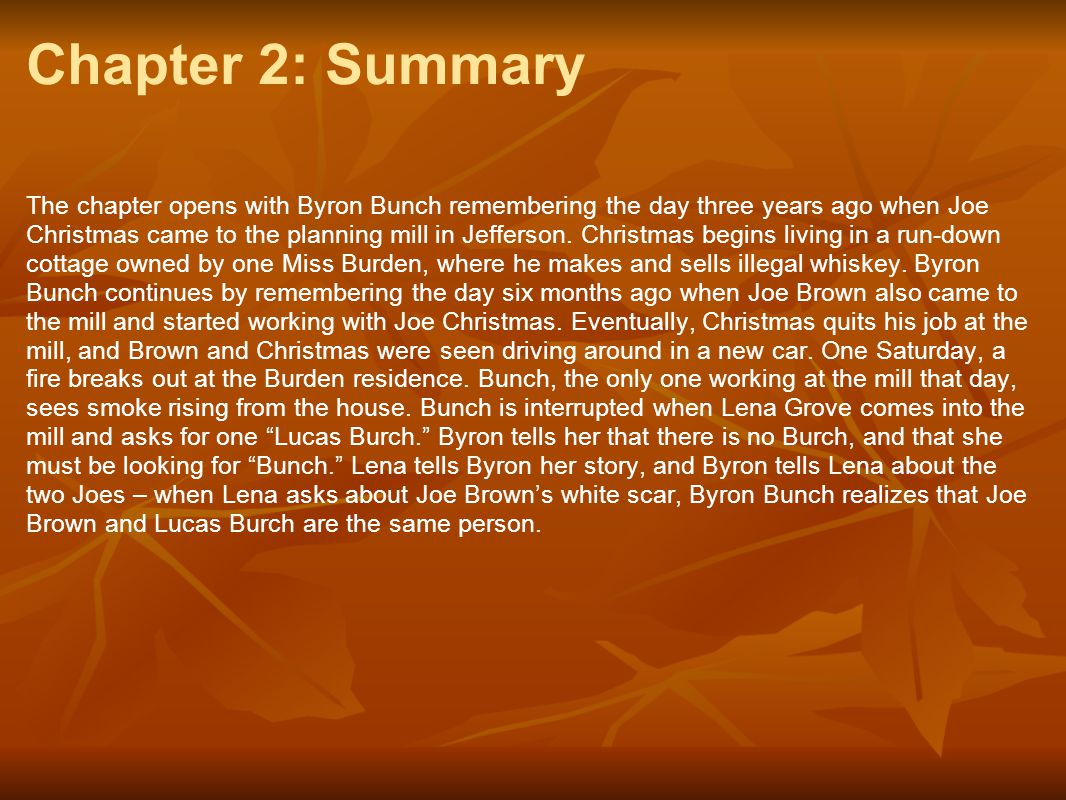 Chapter 2: Summary