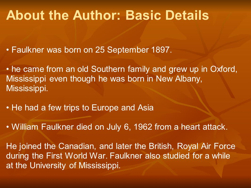 About the Author: Basic Details