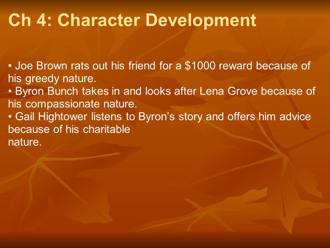 Ch 4: Character Development