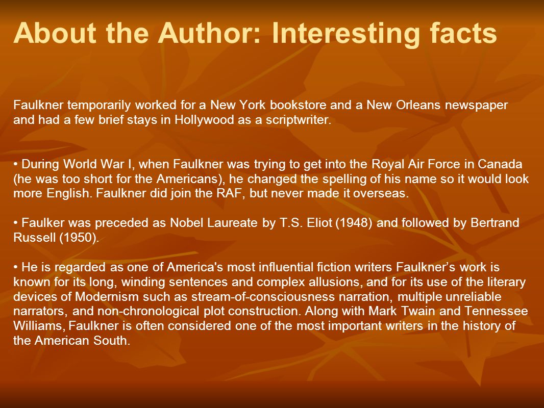 About the Author: Interesting facts
