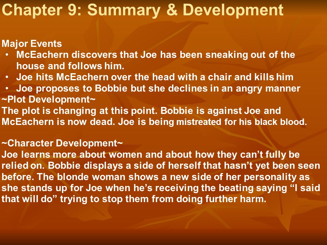 Chapter 9: Summary & Development