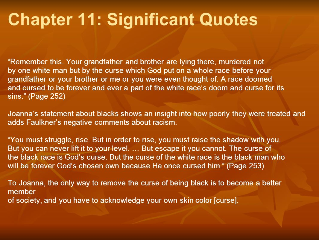 Chapter 11: Significant Quotes