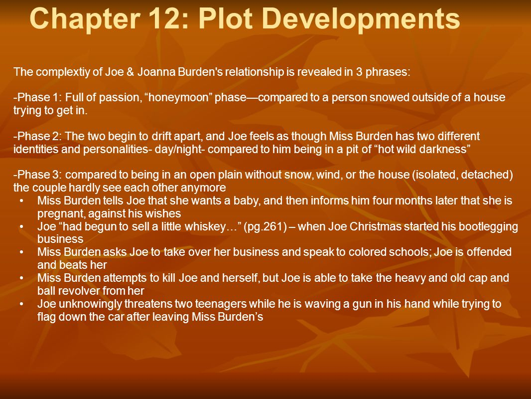 Chapter 12: Plot Developments