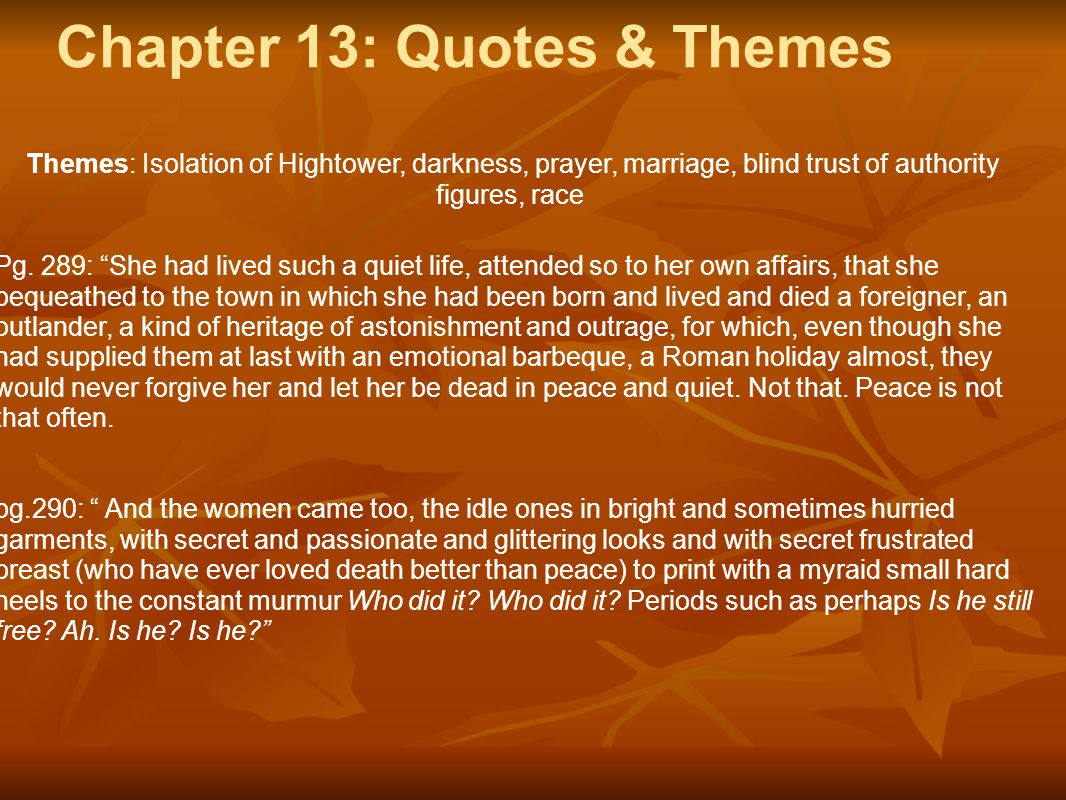 Chapter 13: Quotes & Themes