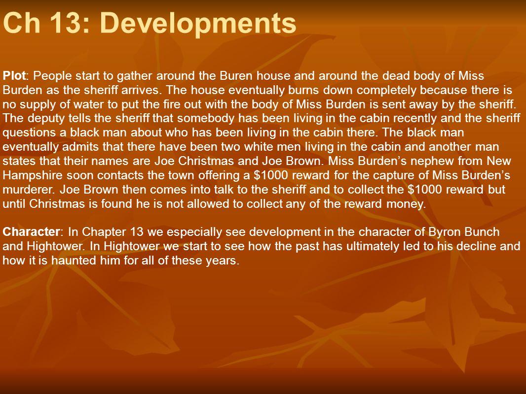 Ch 13: Developments