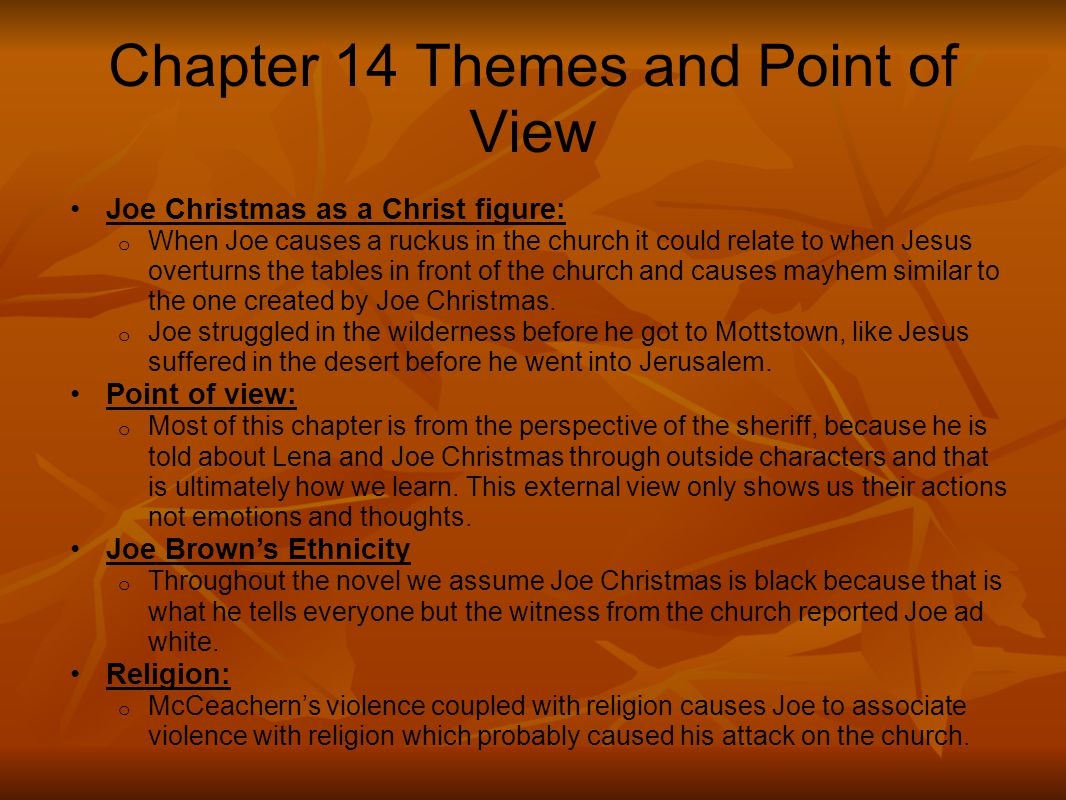Chapter 14 Themes and Point of View