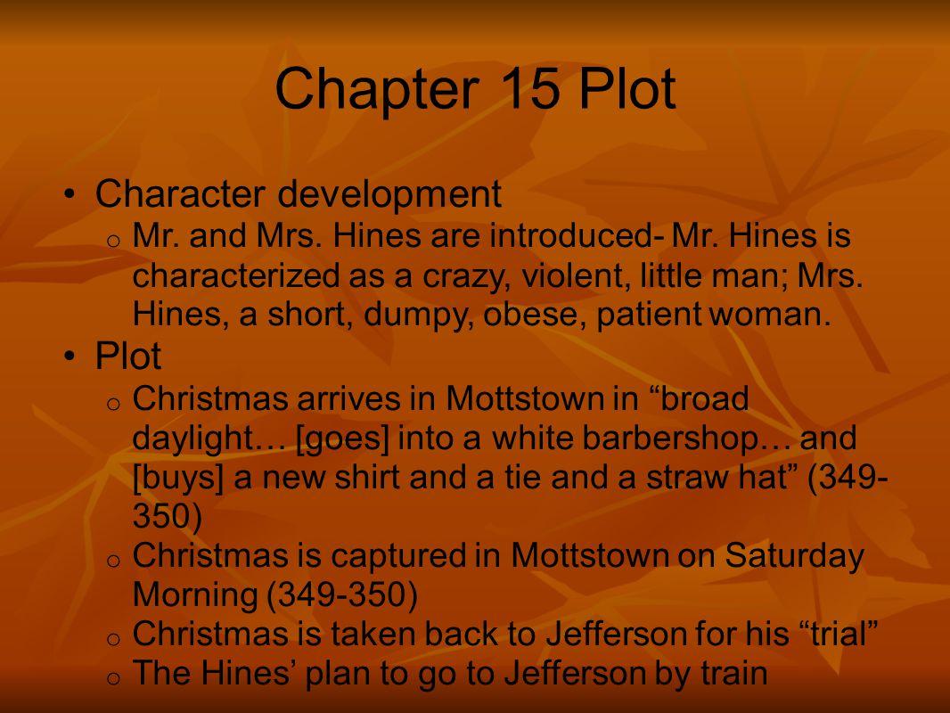 Chapter 15 Plot Character development Plot