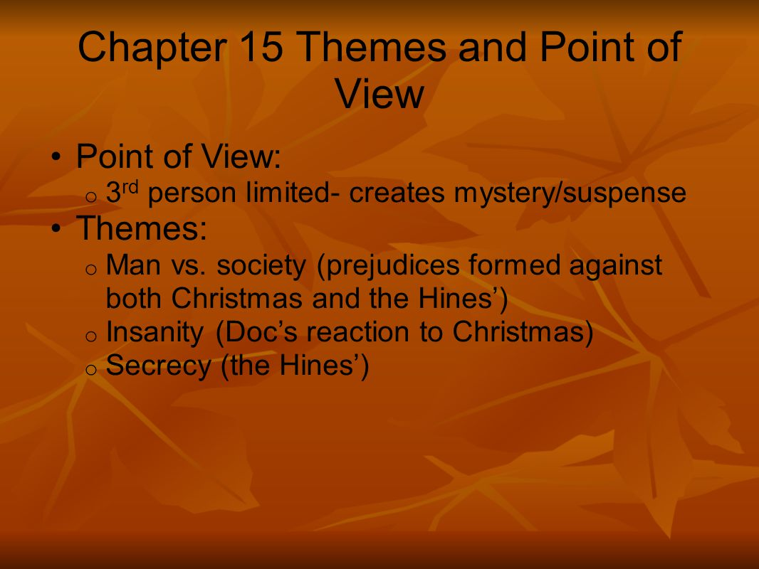 Chapter 15 Themes and Point of View