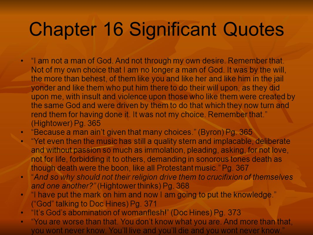 Chapter 16 Significant Quotes