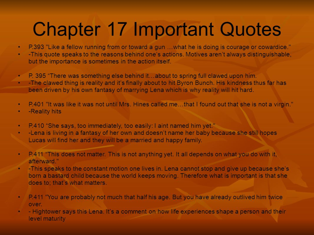 Chapter 17 Important Quotes