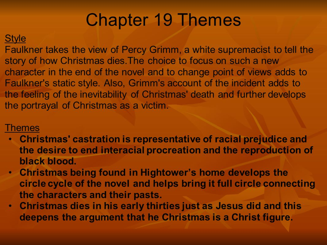 Chapter 19 Themes